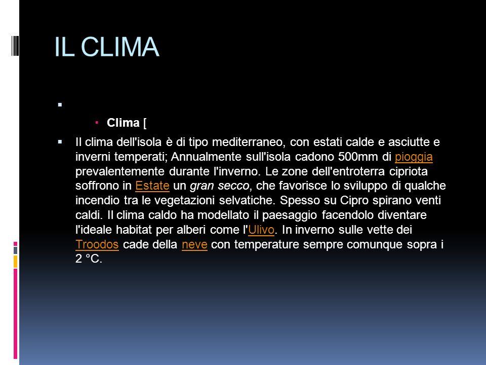 IL CLIMA Clima [